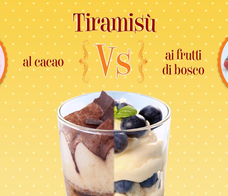 Tiramisù: al cacao o ai frutti di bosco?