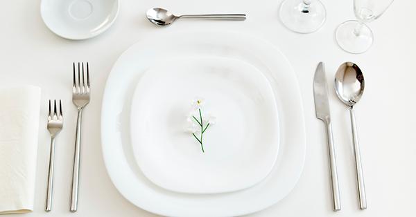 Decorazione della tavola: il galateo delle posate