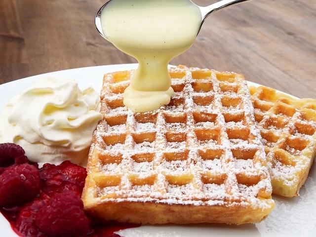 Preparare il waffle come da ricetta originale belga