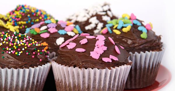Cupcake Glassa Al Cioccolato Idea Di Immagine Del Torta