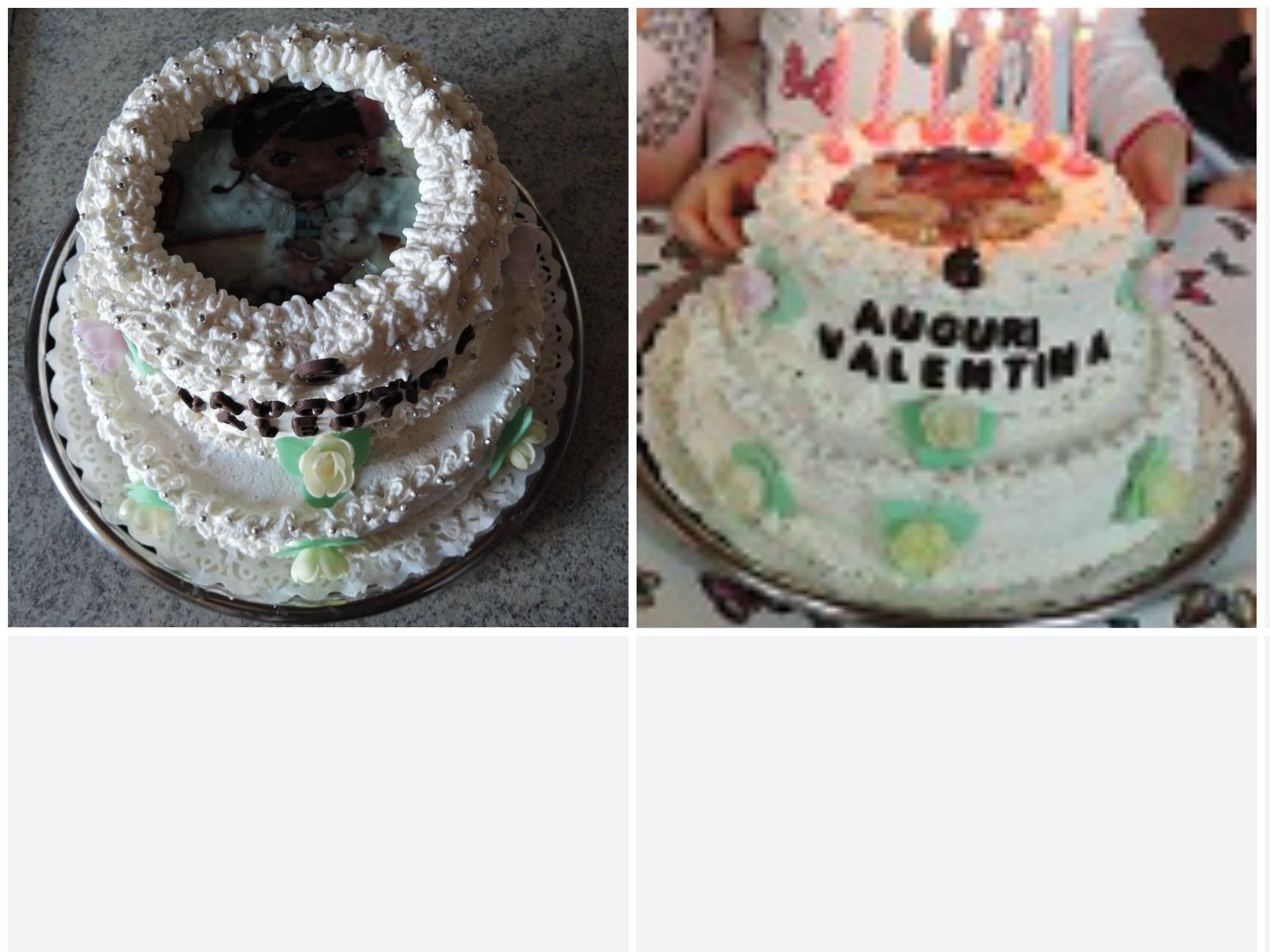 torta dottoressa peluche panna