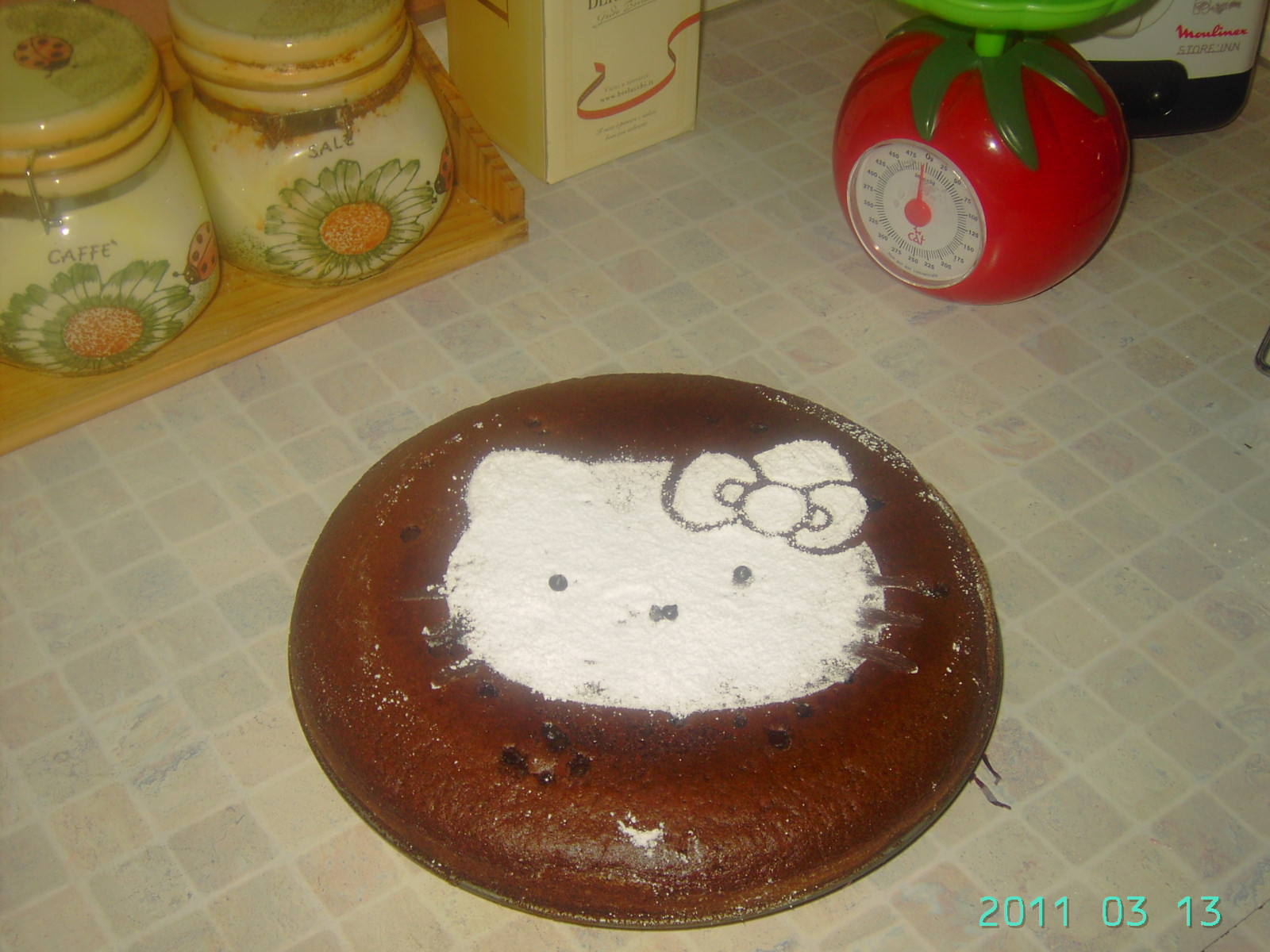 Torta leggera di Hello Kitty