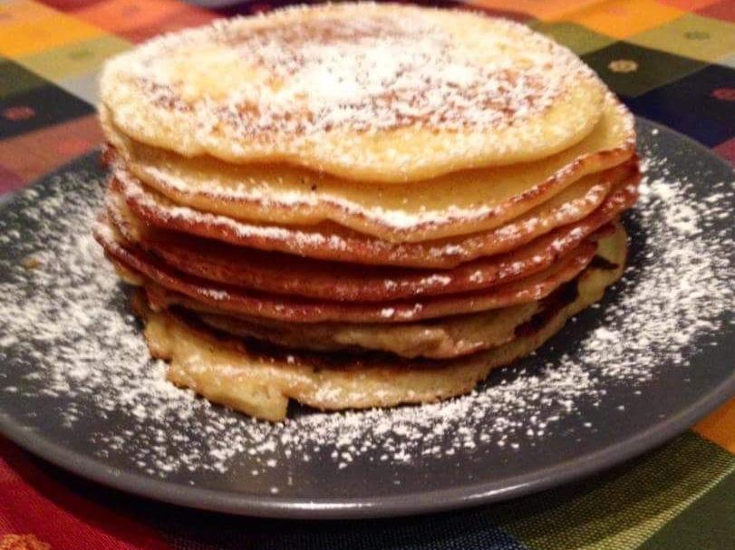 Ricetta Pancake Con Bicarbonato.Ricetta Pancakes Senza Lievito E Burro Dolcidee