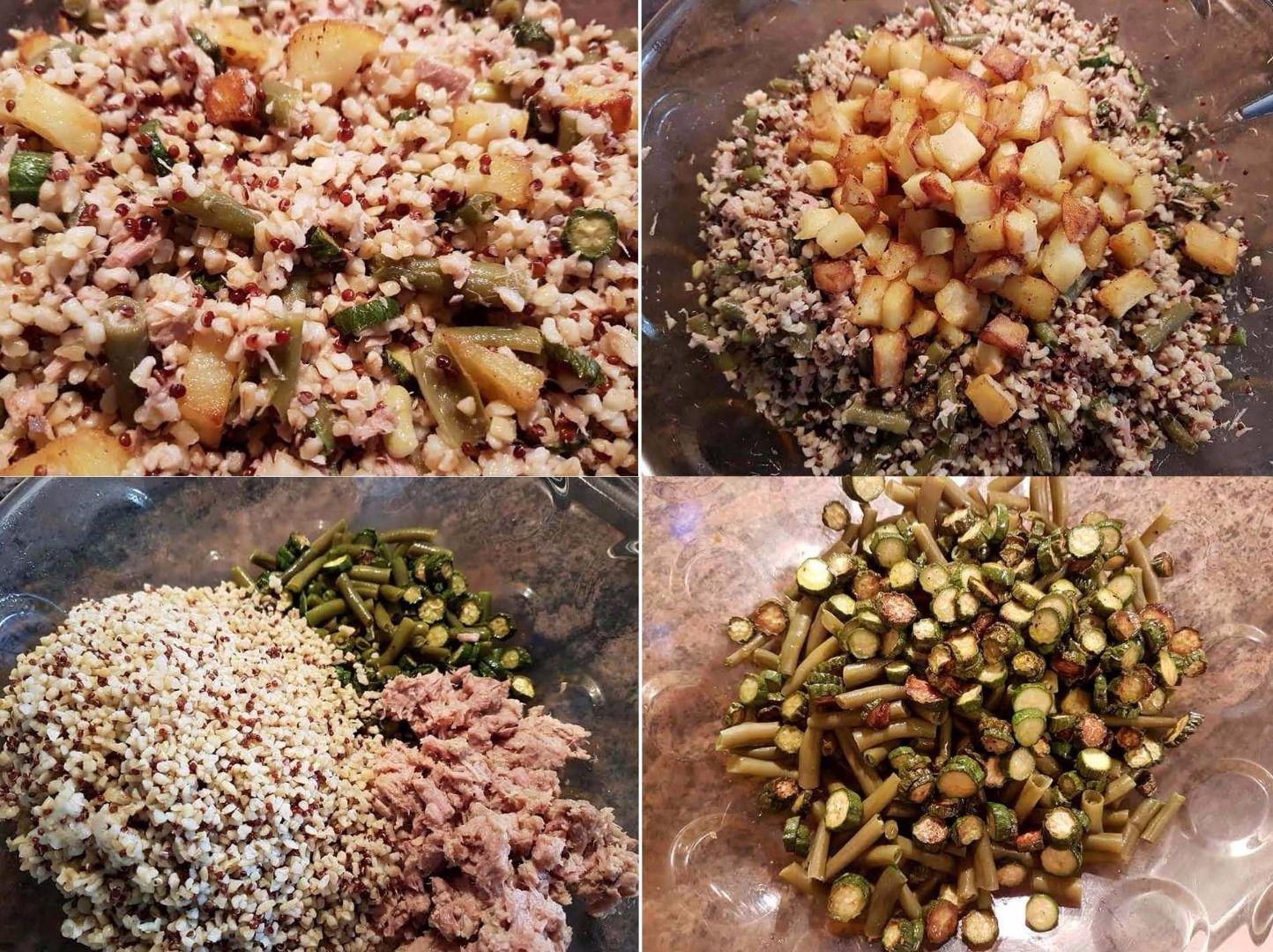 Ricetta Quinoa E Bulgur.Ricetta Insalata Di Quinoa E Bulgur Con Verdurine E Tonno Dolcidee