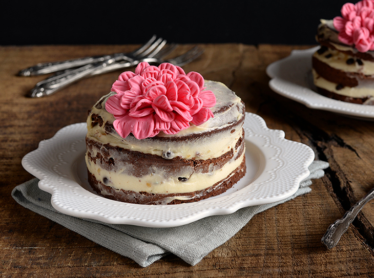 Mini naked cake al cioccolato