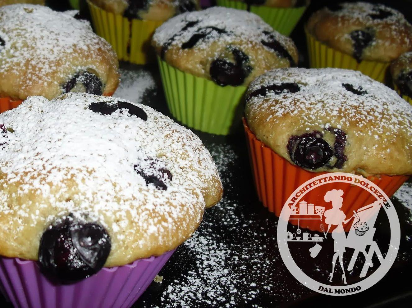 Muffin vegan ai Mirtilli