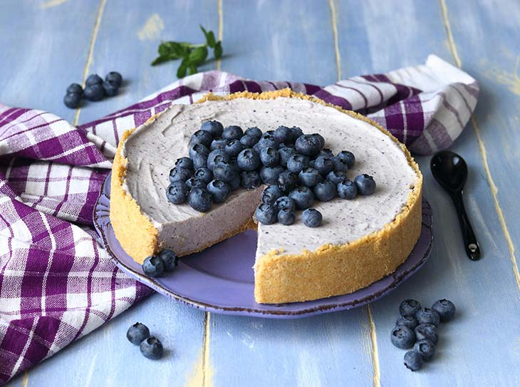 Torta yogurt e mirtilli