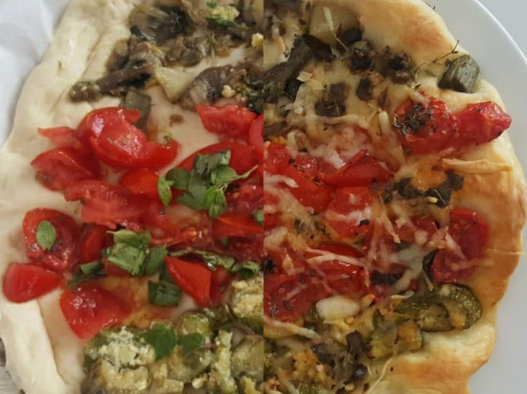 Ricetta Pizza Ortolana.Ricetta Pizza Ortolana Tricolore Dolcidee
