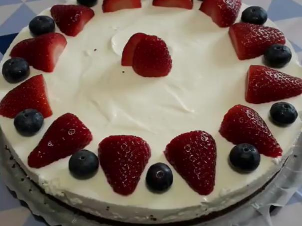 Cheesecake fragole