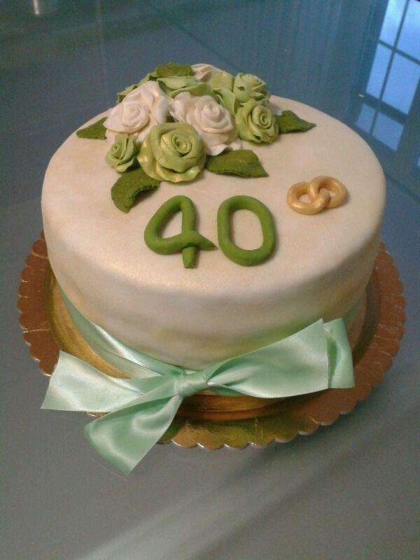 Quarantesimo Anniversario Matrimonio.Ricetta Torta X Anniversario Di 40 Anni Di Matrimonio Dolcidee