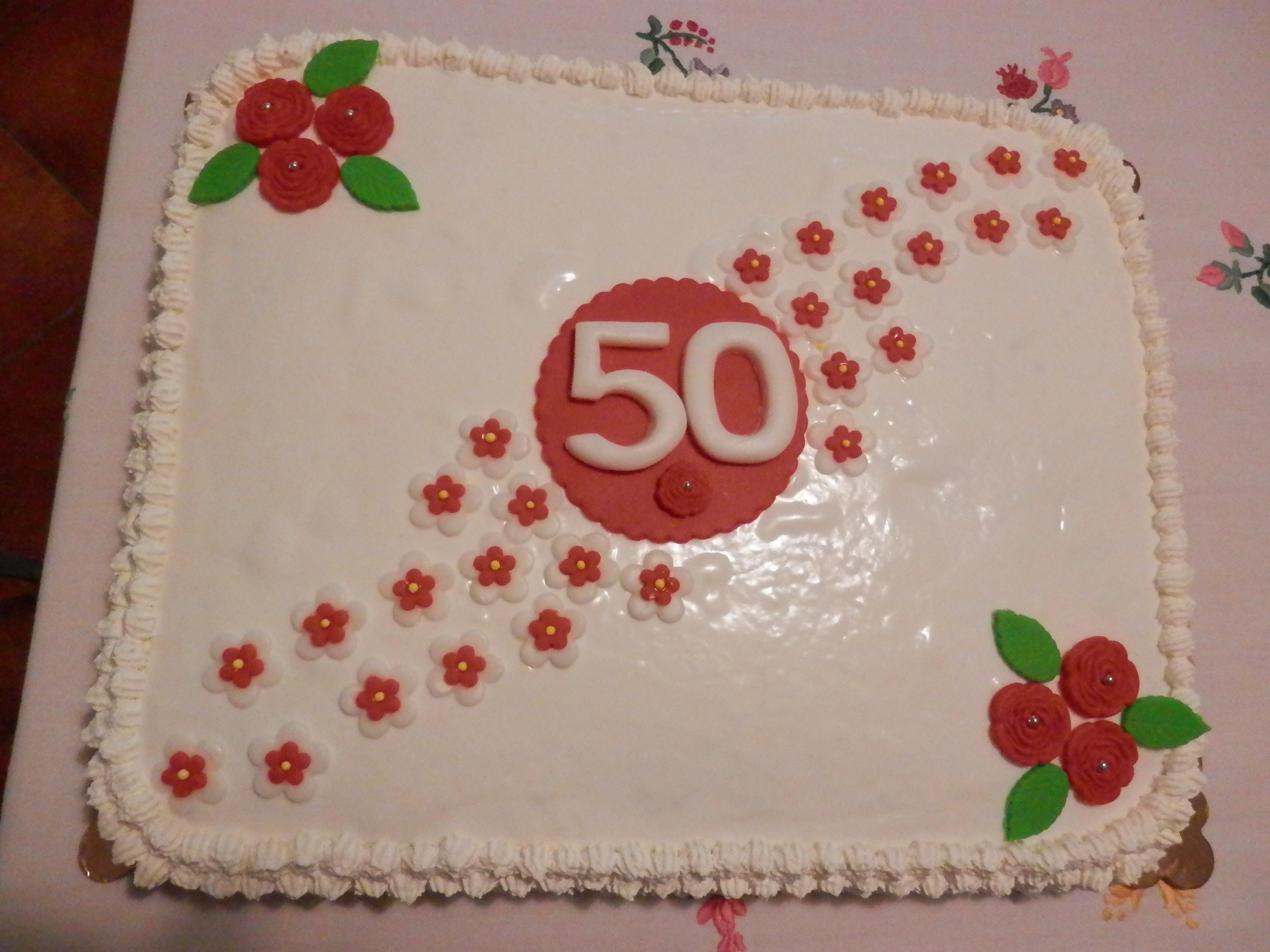 Ricetta torta compleanno 50 anni dolcidee for Decorazioni torte 40 anni uomo