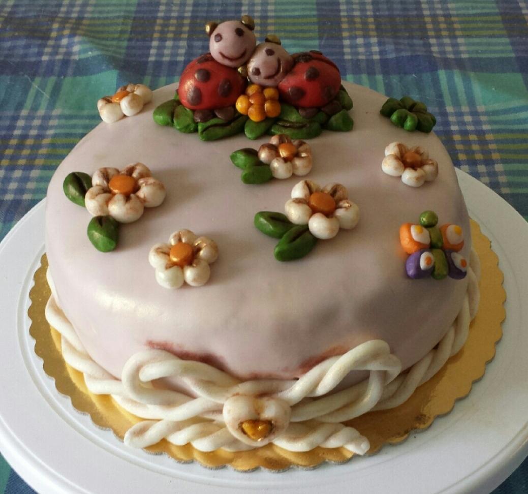 Ricetta torta thun coccinelle dolcidee - Colorazione pagina della torta di compleanno ...
